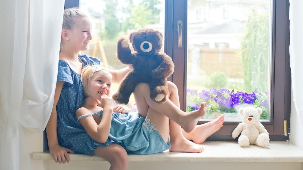 Family with Stuffed Bear