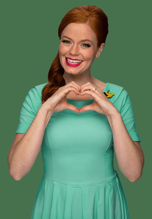 Birdie heart hands